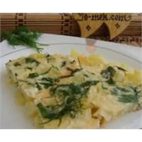 Fırında Patatesli Ve Lorlu Omlet