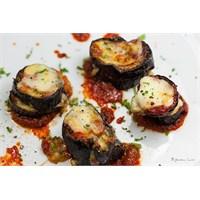 Fırında Diyet Kaşarlı Patlıcan Dilimleri