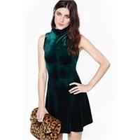 Kadife Elbise Modelleri 2014