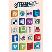 3d Sosyal Medya İkonu