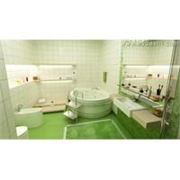Yeşil Banyo Dekorasyonu Örnekleri