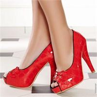 Platform Topuk Ayakkabı Tasarımlar:genel Moda