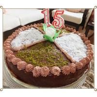 Mozaik Pastadan Çok Pratik Doğum Günü Pastası