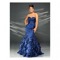 Parlement Mavi Balık Etek Abiye Elbise Modelleri
