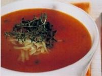 Maydanozlu Pirinçli Domates Çorbası