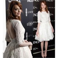 Kabarık Beyaz Elbise
