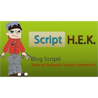 Yeni Blog Scripti