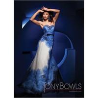 Tony Bowls Mavi- Lacivert Abiye Elbise Modelleri