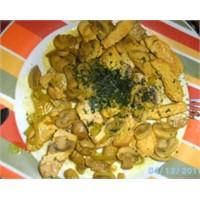 Mantarlı Tavuk Sote (Diyet Tarifi)