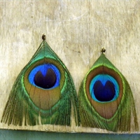 Kuş Tüyünden Yapılmış Harika Küpe Modelleri