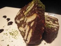 Bitter Cikolata İle Mozaik Pasta