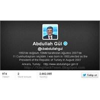 Twitter' Da Abdullah Gül 3' Üncü Sırada!