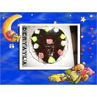 Hurmali Cevizli Çikolatali Kek