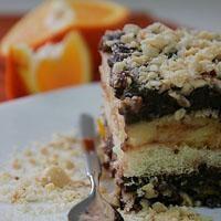Portakallı Ve Çikolatalı Kedi Dili Pastası