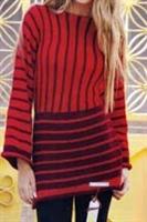 Örgü Kırmızı Tunik Modeli