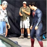 Yeni Çekilen Superman Filminden Fotoğraflar