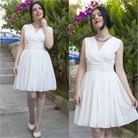 Ne Giydim: Pileli Şifon Elbise