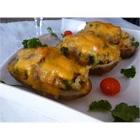 Fırında Çedar Peynirli Patates