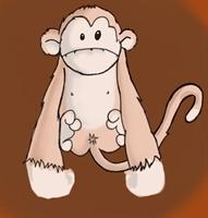 Titiz Maymun Ve Kirlenmeyen Kumaş