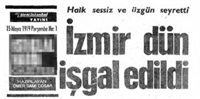 İzmir'in İşgali 15 Mayıs 1919