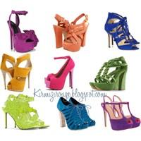 Bu Yıl Ayakkabılarımız Rengarenk (Renkli Yazlık Ay