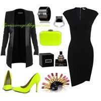 Siyah Elbiseyle Farklı Kombinler -6