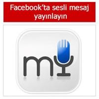 Facebookta Sesli Mesaj Yayınlayın