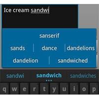 Android İce Cream Sandwich Klavyesi