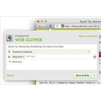 Evernote Safari Eklentisi Güncellendi 2012