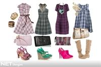 4 Farklı Ekose Elbise, 4 Farklı Stil