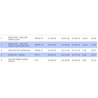 Reyting Sıralaması Yorumu 15 Nisan 2012