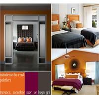 Turuncu Yatak Odaları Ve Turunculu Paletler