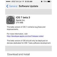 İos 7 Beta 3 Ve İos 7 Beta 3 Sürümü Hakkında Bilgi