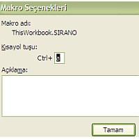 Excel Makro Yazma