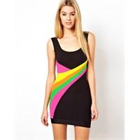 Neon Rengi Elbise Modası 2013 Trendlerinden