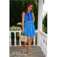 Blue Marine Dantela Elbisem
