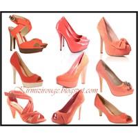 Mercan Rengi Ayakkabılar