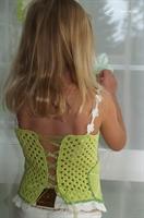 10 Yaş Canlı Renkli, Askılı Kız Çocuk Bluz Modeli