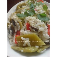 Patlıcanlı -pilav