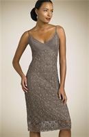 Bayanlara Dantel Yazlık Askılı Elbise (şemalı)