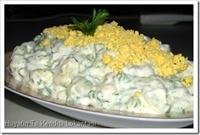 Limon Soslu Ve Yumurtalı Patates Salatası