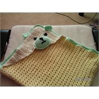 Ayıcık desenli bebek battaniyesi