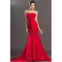 Kırmızı Abiye Elbiseler 2013