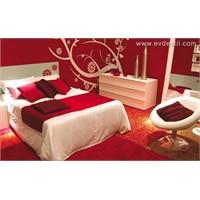 Kırmızı Yatak Odası Modelleri Ve Takımları