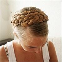 Saçlardan Taç Yapma Resimli Anlatım