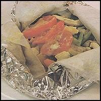 Kağıtta Sebzeli Tavuk