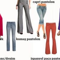 Pantolon Ve Jeans Türlerini Biliyor Musunuz?