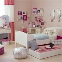 Pembe Genç Kız Yatak Odası Modelleri