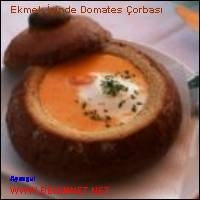 Ekmek İçinde Domates Çorbası.