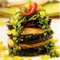 Diyet Yemeği Tavuklu Patlıcan Kulesi